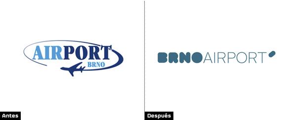 logotipo aeropuerto brno