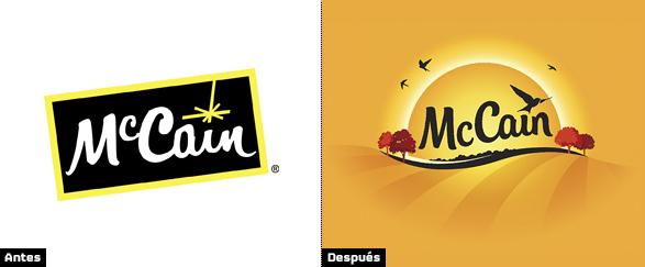 mccain logo evolución e historia del cambio de la imagen de marca