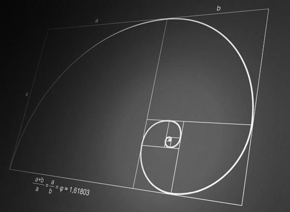 imagen ejemplo simbolo aurea o proporcion divina numero fibonacci