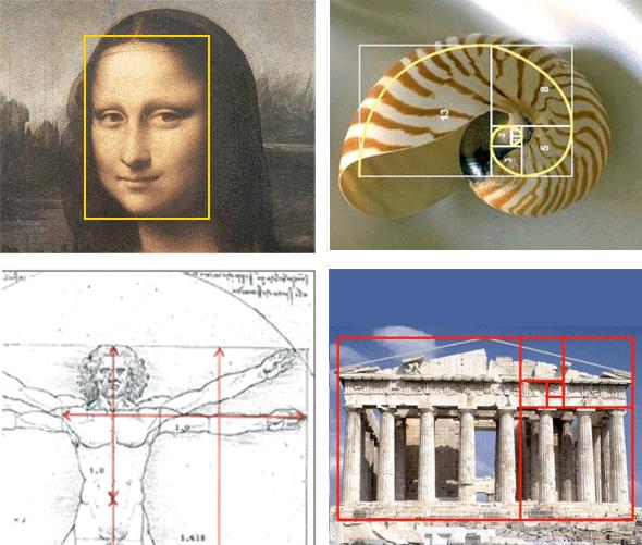 imagenes hechas con proporcion aurea cuerpo humano panteon griego Gioconda