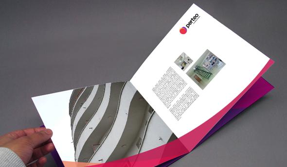 merchandise y publicidad perteo imagen de papelería