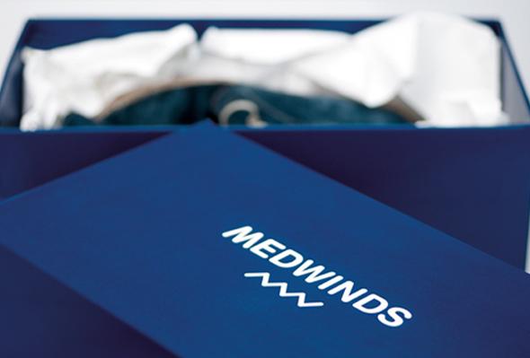 MedWinds packaging imagen de marca de ropa