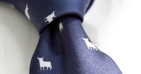 Merchandising del Toro de Osborne en una corbata
