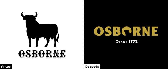 Comparativa del logo actual del Toro de Osborne