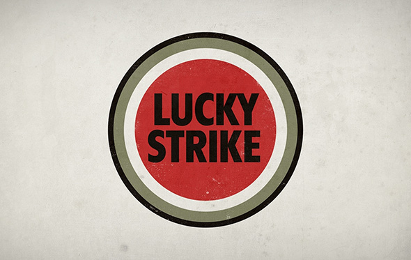 Raymond Loewy diseño actual del logo Lucky Strike