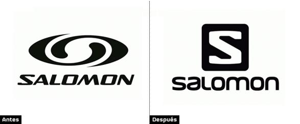 comparacion logo antiguo salomon con logotipo nuevo rediseño de imagen corporativa