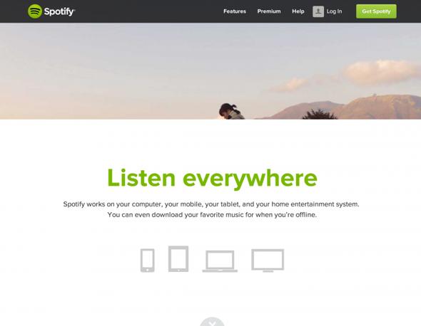 diseño spotify en ipad