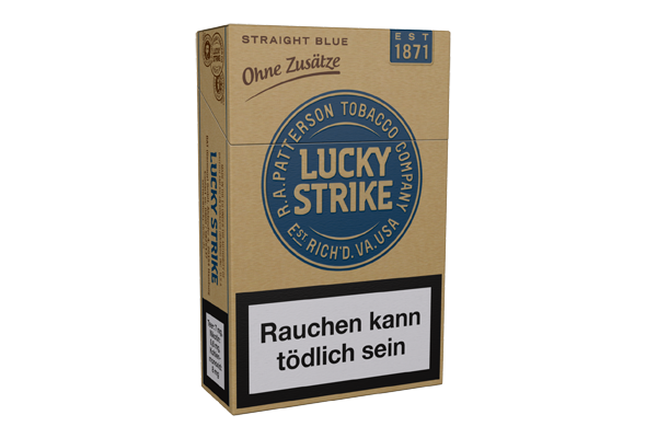 cajetilla original lucky strike straight azul