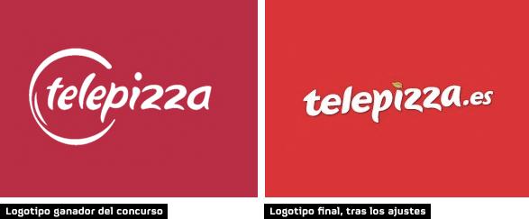 telepizza logotipo ganador concurso y logotipo final tras ajustes