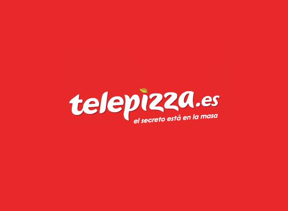 telepizza logo diseño 2013 concurso subasta creativa adtriboo color rojo fuente blanca
