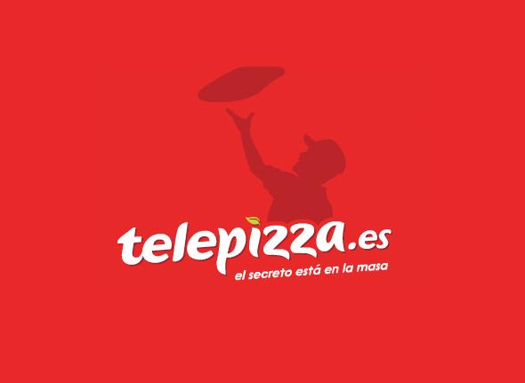 telepizza nuevo logo version con pizzero el secreto está en la masa
