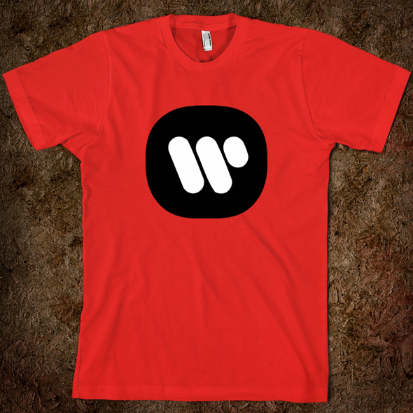 Camiseta con el Logo Warner Music Group diseñado por Saul Bass