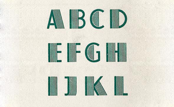 el gran gaptsy tipografía atlas creada en 1933 fuente tipográfica