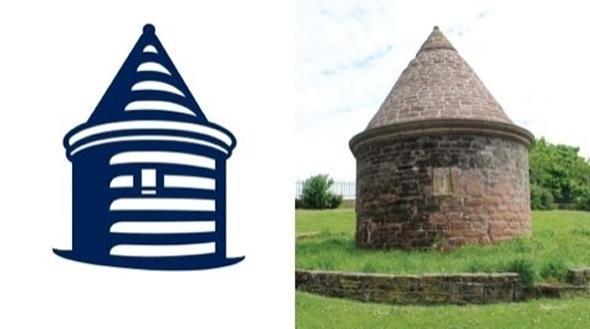 significado de la torre que compone el escudo del Everton