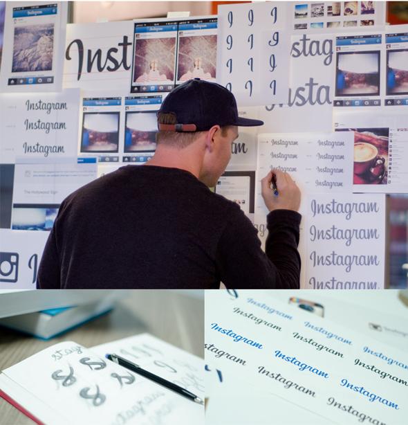 instagram prototipos y esbozos de la nueva tipografia y fuente