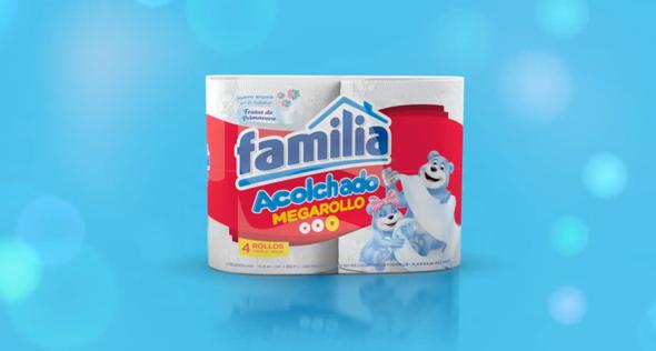 imagen pack de papel higienico de la marca familia con ositos  megarrollo acolchado