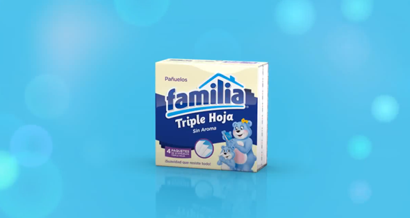 marca familia imagen de pack de servilletas de papel triple hoja