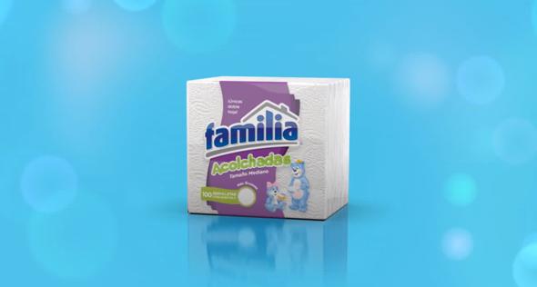 marca familia imagen de paquete de servilletas acolchadas