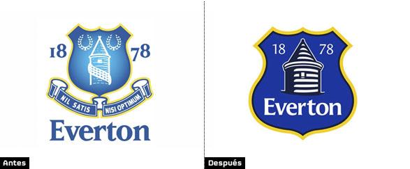 historia análisis y significado  de los cambios del escudo del everton