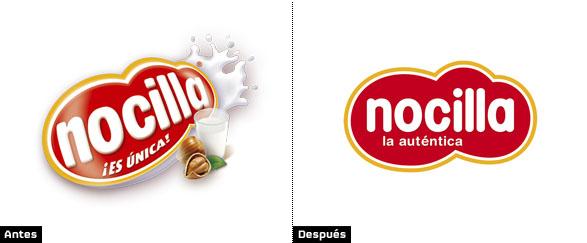 comparacion logo nocilla es unica con logo nocilla la autentica