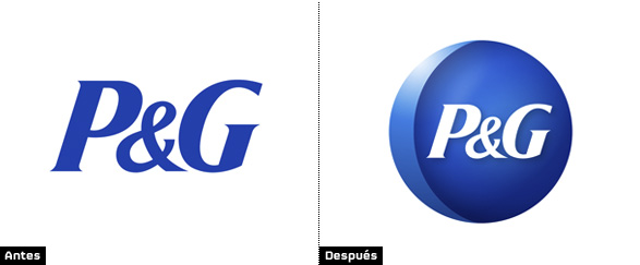 Comparación de logos de Procter and Gamble