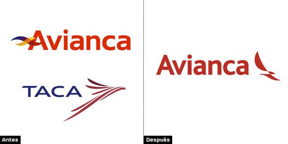Logo rediseñado de Avianca tras la fusión con la aerolínea Taca