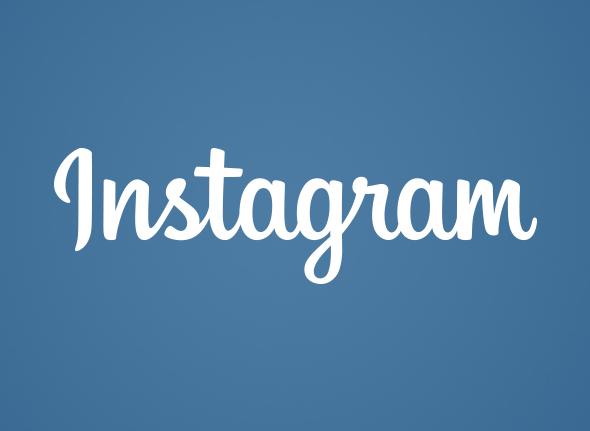 instagram nuevo logo en colores azul y blanco