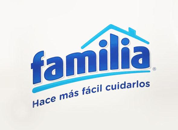 imagen de la identidad corporativa de la marca colombiana familia