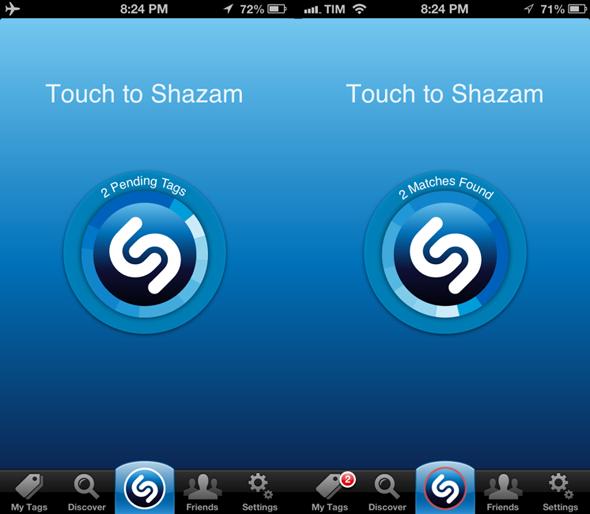imagen icono shazam en smartphone