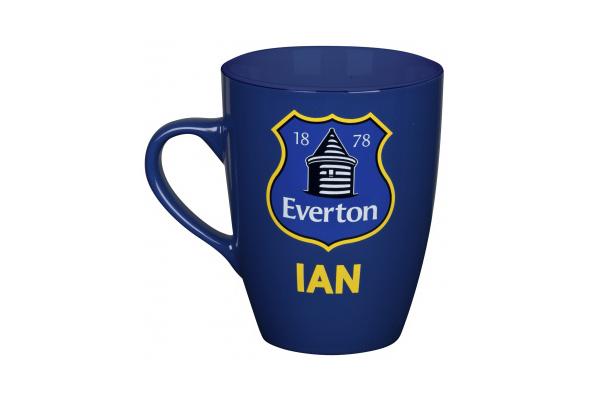 imagen de taza con el escudo del Everton