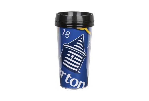 vaso con el escudo del Everton