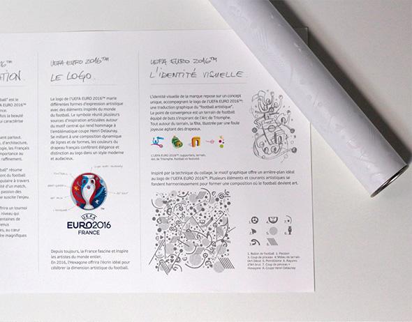 uefa eurocopa 2016 francia panfleto