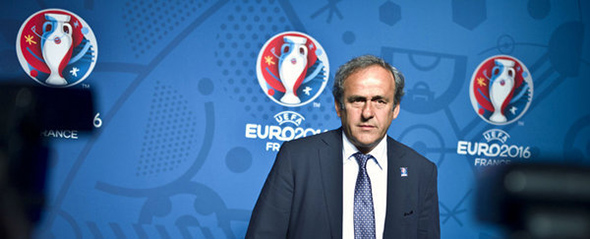 UEFA-president-Michel-Platini-eurocopa 2016 logo