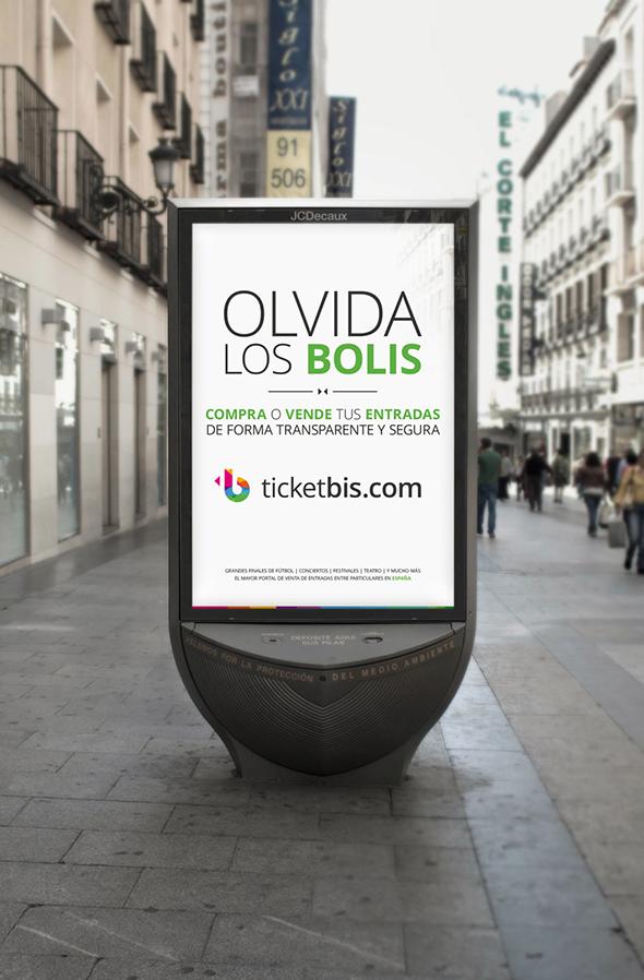 mupi de publicidad de ticketbis publicidad en la calle