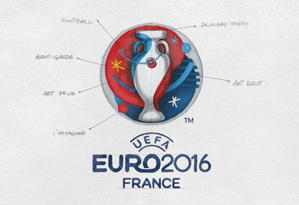 estructura del logo de eurocopa 2016