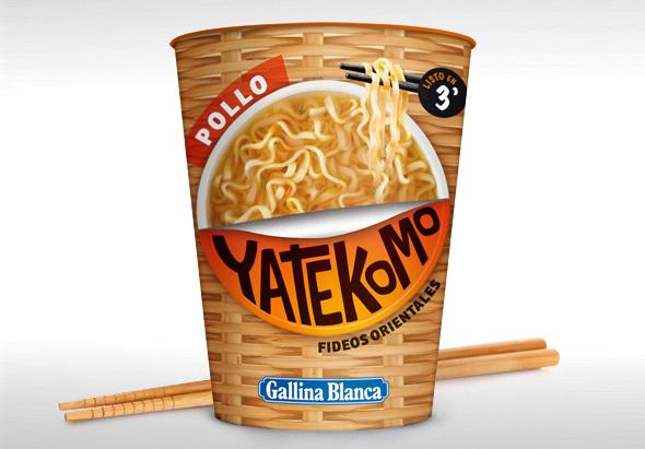 vaso yatekomo de pollo producto de gallina blanca fideos orientales