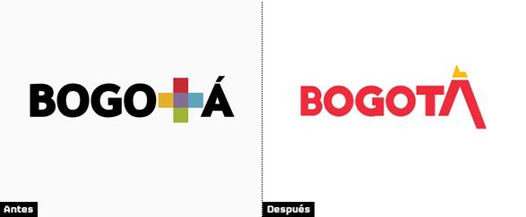 bogota logotipo comparacion nueva identidad cambio de color a rojo