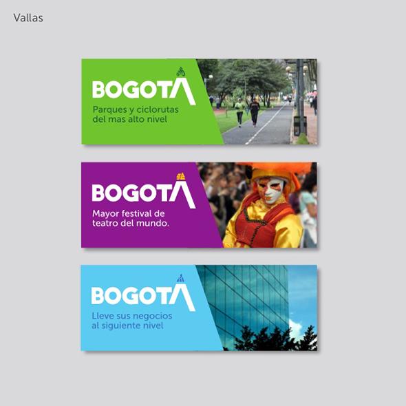 imagen de slogan de publicidad de Bogotá en Vallas