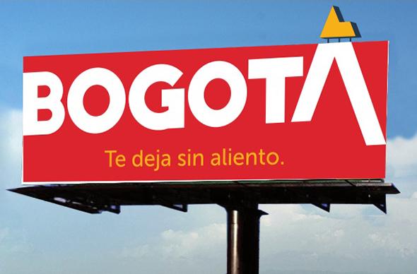 valla publicitaria de la marca ciudad Bogotá