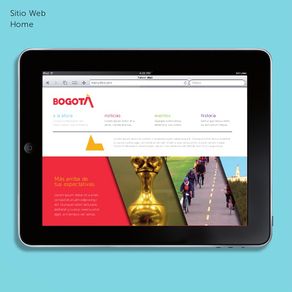 imagen de la marca ciudad Bogotá en una tablet