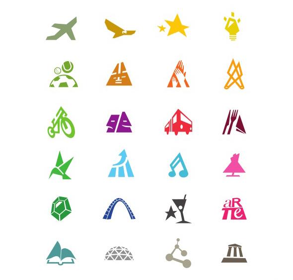 imagen de tramas de colores creadas para la marca ciudad bogotá