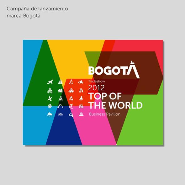 imagen de campaña de lanzamiento de Bogotá 2012 top of the world
