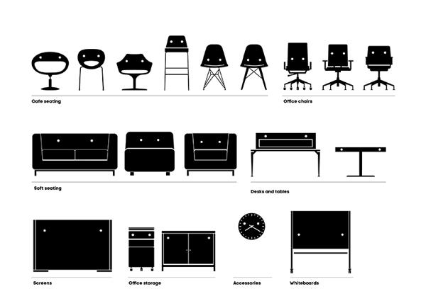 La consultora australiana re presenta la nueva identidad for Nombres de muebles de oficina