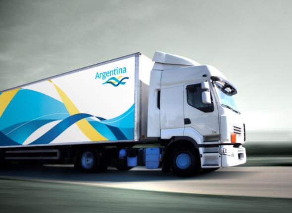 slogan de publicidad en un camion nueva marca pais argentina