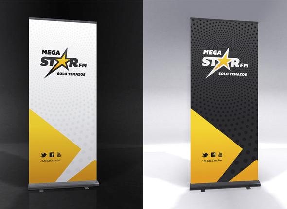 MegaStarFM publicidad banderolas
