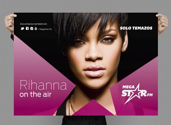 MegaStarFM publicidad Rihanna on the air radio