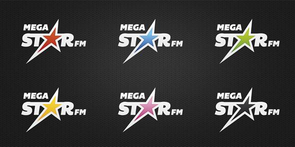 MegaStarFM gama de colores de la cadena de radio