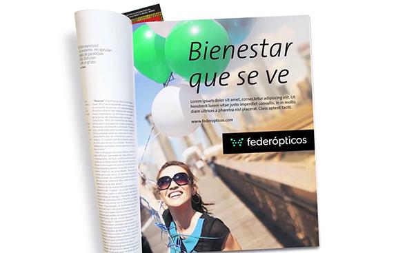 imagen publicidad federopticos en revista