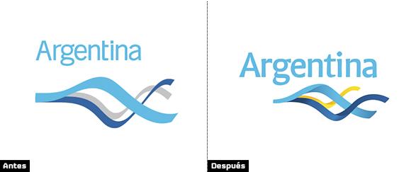 comparacion entre logo de la marca argentina antiguo y rediseñado 2013