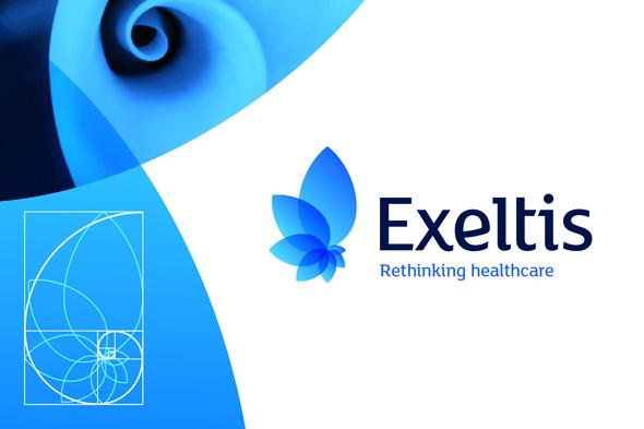 Exeltis imagen del diseño de la marca icono